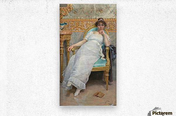 Contemplation, 1896  Metal print