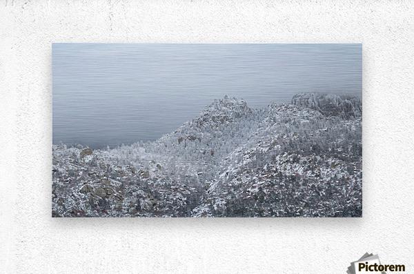 Sandia Mountains in Snow 1VP  Metal print
