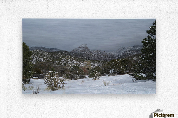 Sandia Mountains in the Snow 7 VP  Metal print
