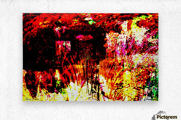 A Colorful Scene   Metal print