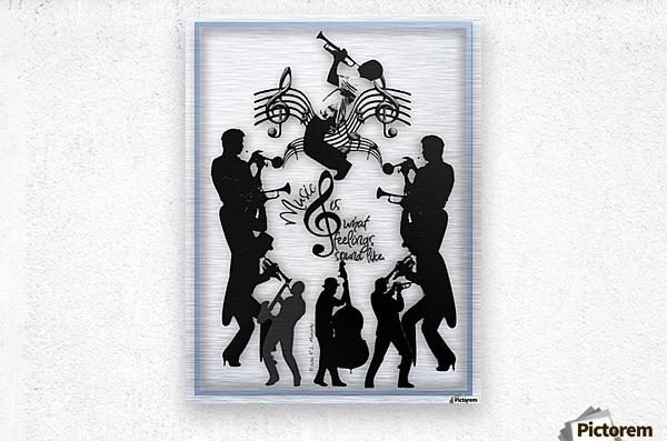 Music Feelings  Metal print