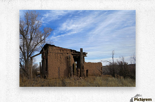 Turquoise Trail - Ruins in Golden 2VP  Metal print