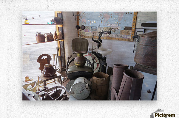 Turquoise Trail - Dentist Chair in Cerrillos  1VP  Metal print