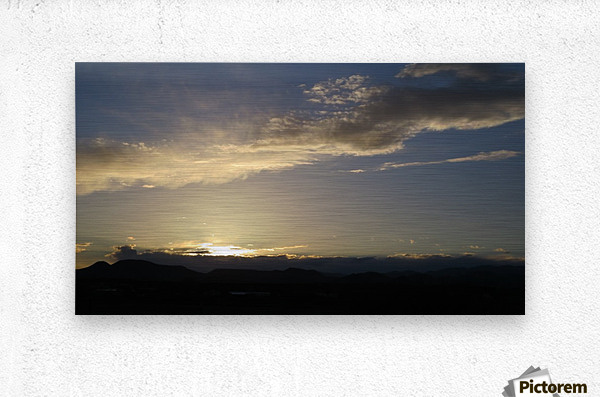 Sunset over the Mountains VP2  Metal print