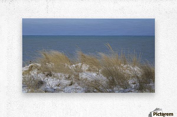 Gillson Beach in the Winter VP1  Metal print