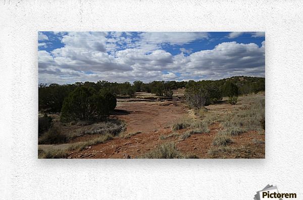 Landscape Near the Ruins of the Abo Pueblo VP9  Metal print