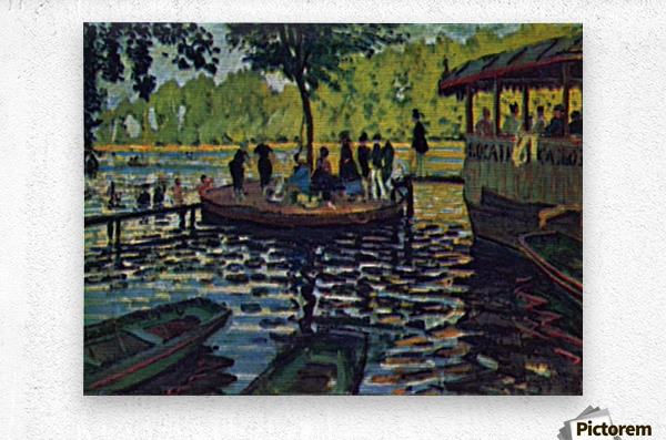 La Grenouillere by Monet  Metal print