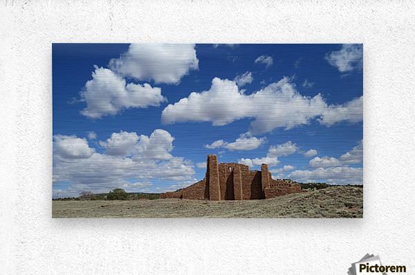 Ruins of Abo Pueblo  VP1  Metal print