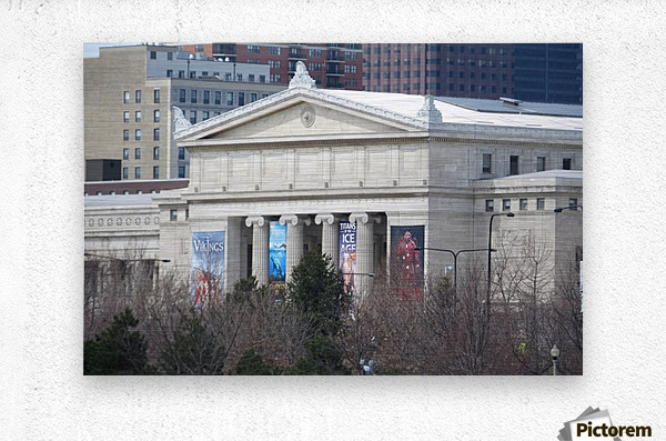 Field Museum from Northerly Island VP11  Metal print