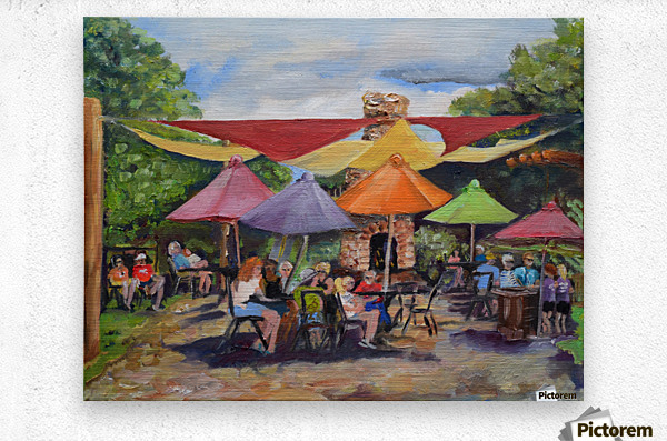 Under The Umbrellas At The Cartecay Vineyard - Crush Festival   Metal print