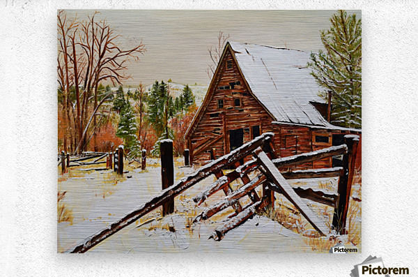 Strong Timbers - A Barn in Nevada  Metal print