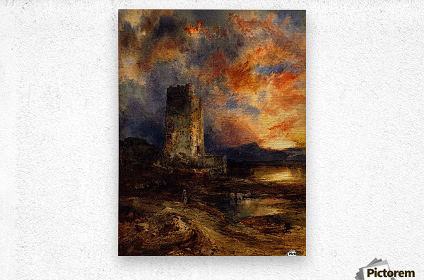 1880 Sunset on the Moor  Metal print