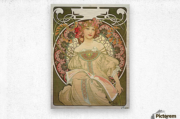 Champagne Printer Publisher 1897  Metal print