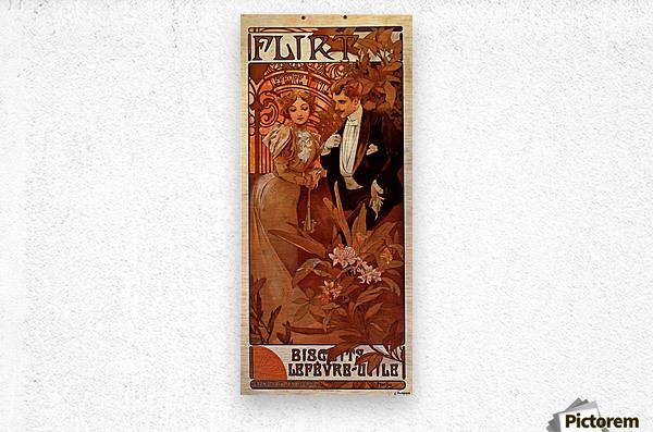 Flirt Lefevre Utile, 1899  Metal print
