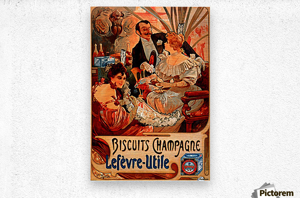 Biscuits Champagne, Lefevre-Utile  Metal print