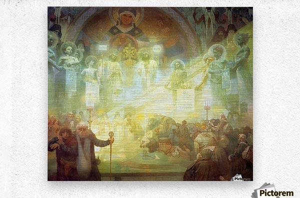 Holy Mount Athos, 1926  Metal print