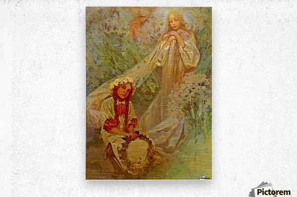 Madonna of the Lilies  Metal print