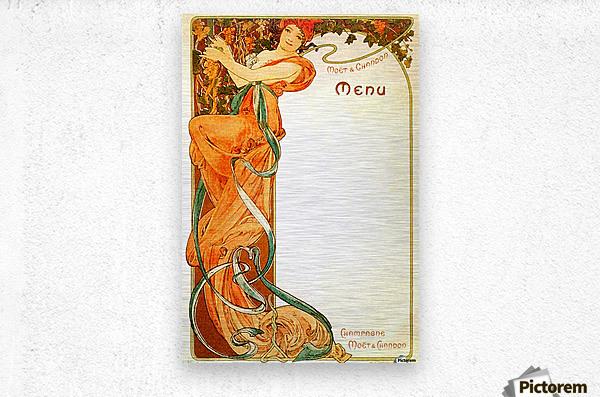 1899 Moet & Chandon menu  Metal print