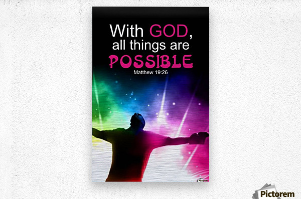 All things Possible  Metal print
