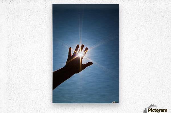 Hand Sunburst  Metal print