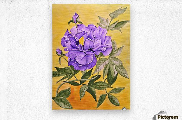 Purple Peony  Metal print