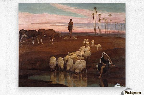 The Ploughman and the Shepherdess  Metal print