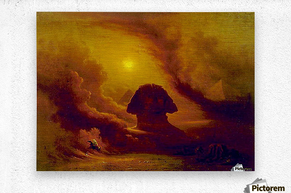Mystery of the past  Metal print