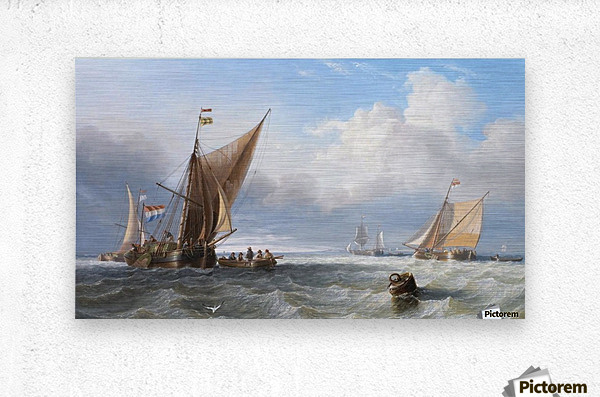 Off the Dutch Coast  Metal print