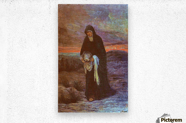 The sorrows of Mother Mary  Metal print