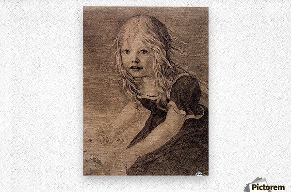 Portrait of the Artists Daughter Marie  Metal print