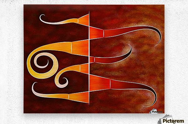 Cassanita sol - martian bird  Metal print