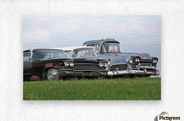 Old Cars on Grave Run Road VP2  Metal print