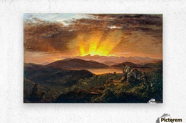 Sunrise on a valey  Metal print
