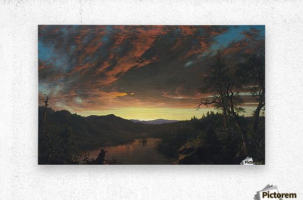 Twilight in the Wilderness  Metal print