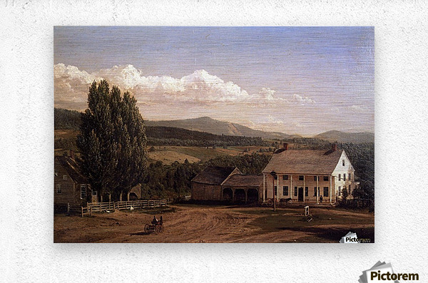 View in Pittsford Vt 1848  Metal print
