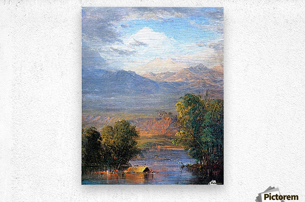 The Magdalena River Equador  Metal print
