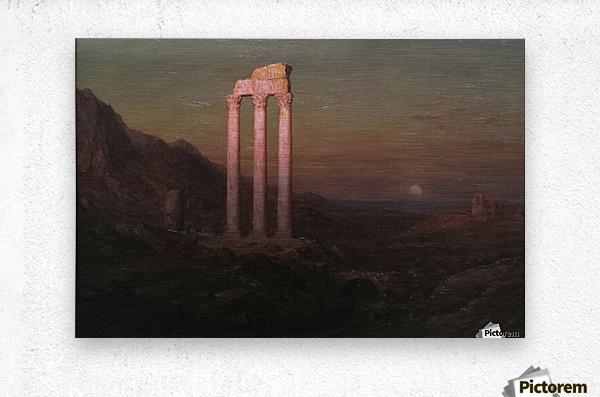 Moonrise Over Greece  Metal print