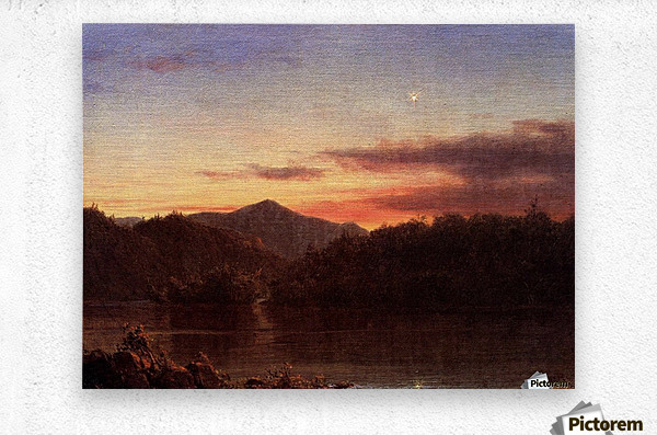 The Evening Star 1859  Metal print
