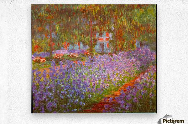 Monets Garden by Monet  Metal print