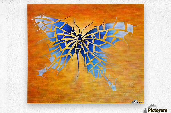 Tropenillo V1 - the blue butterfly  Metal print