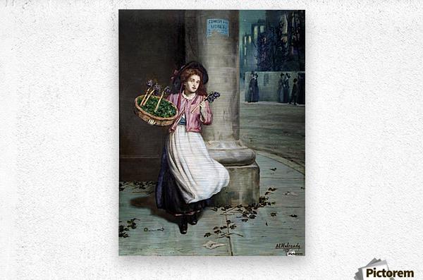 A young florist  Impression metal