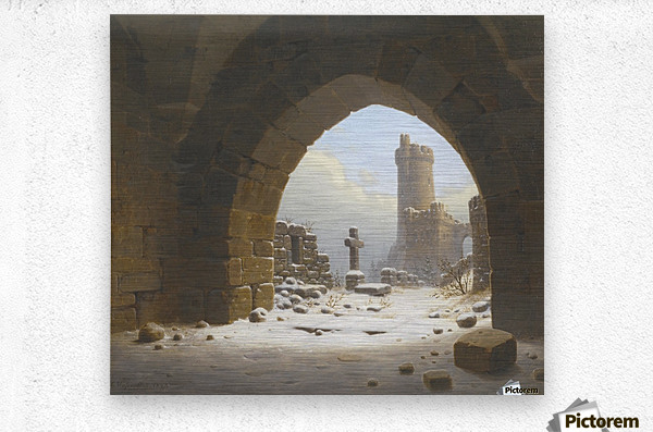 Ruins on the edge of the city  Metal print