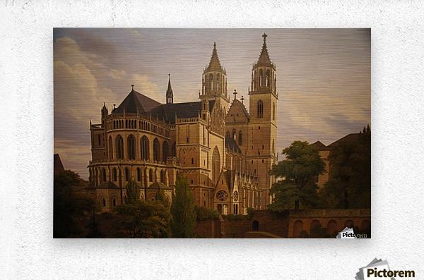 Magdeburger Dom 1828  Metal print