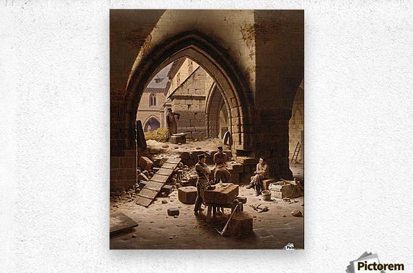 Partie des Kreuzgange der Liebfrauenkirche  Metal print