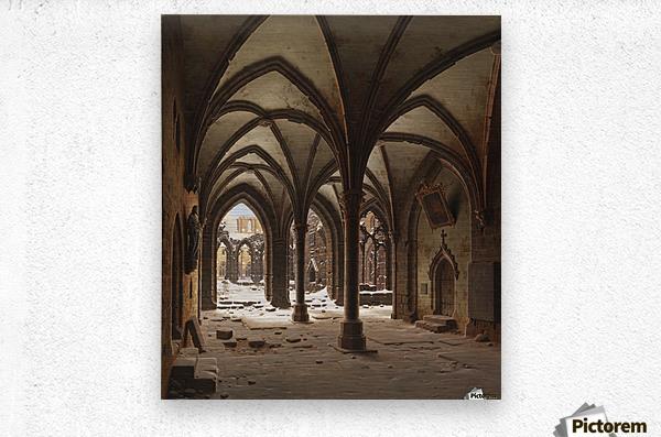 Die Ruine des Klosters Walkenried im Winter  Metal print
