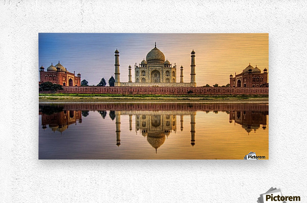 Visit India  Metal print