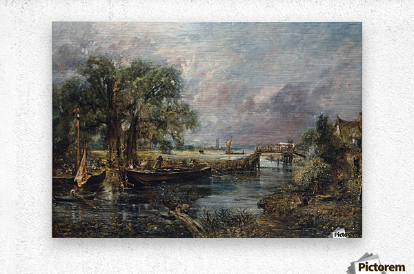 View on the River Stour  Metal print
