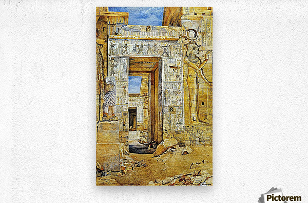 An Egiptian gate  Metal print
