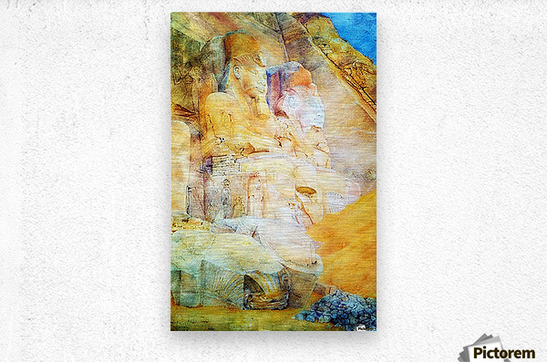 Painting of the Pharaon  Metal print
