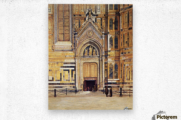 The South Door of the Duomo 1881  Metal print